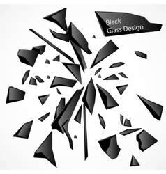 Broken Glass Black Drawing vector