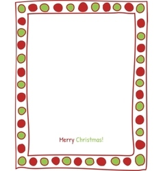 Christmas circle border vector