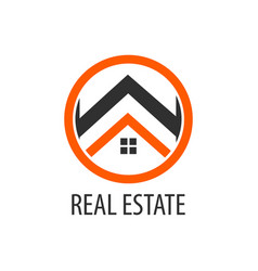 circle real estate logo concept design symbol vector image