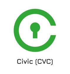 Civic cvc crypto coin icon vector