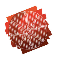 Color background with basketball ball with white vector