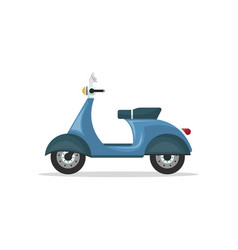 courier motorbike isolated icon vector image