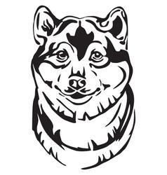 Decorative portrait dog shiba inu vector