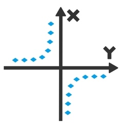 Dotted Hyperbola Plot Toolbar Icon vector
