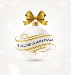 feliz navidad - christmas greetings in spanish vector image