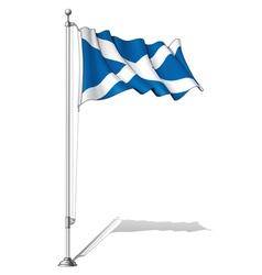 Flag Pole Scotland vector image