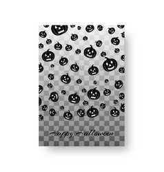 funny card with pumpkins for halloween vector image