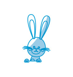 Funny easter rabbit decoration celebration vector