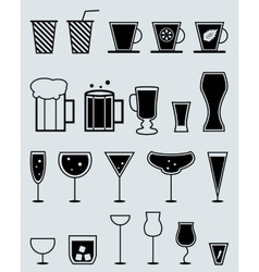 glasses for drinks vector image