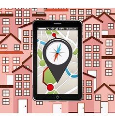 gps service vector image