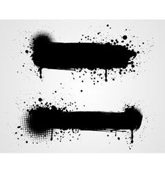 grunge two black banners vector image