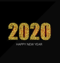happy new year 20120 greeting card with gold vector image