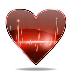 heart monitor vector image