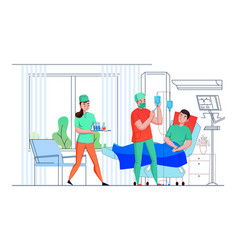 Hospital nurse flat composition vector