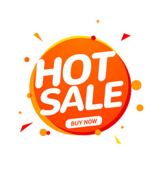 hot sale speech bubble banner promo sign discount vector image