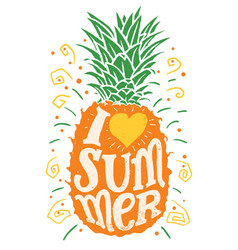 I love summer hand drawing typography vector