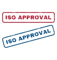 ISO Approval Rubber Stamps vector