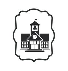 Isolated building of school design vector