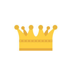 Isolated royal gold crown design vector