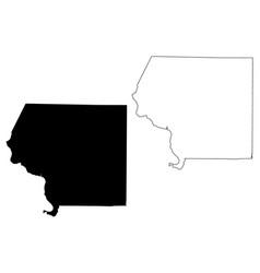 Jackson county illinois us county united states vector