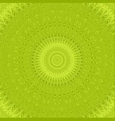 Lime green mandala star ornament background vector