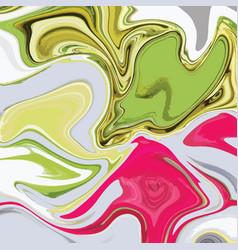 Liquid marble texture design colorful marbling vector