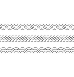 macrame crochet weaving braid knot vector image
