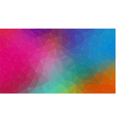 multicolor triangle abstrat background eps10 vector image