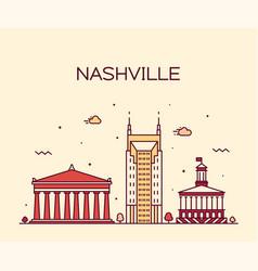 Nashville skyline tennessee usa linear city vector
