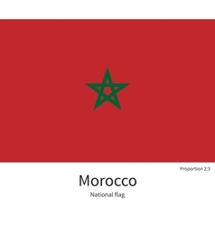 National flag of morocco with correct proportions vector