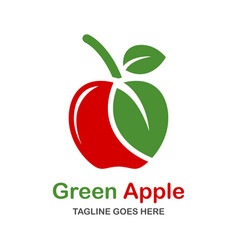 Natural apple logo vector
