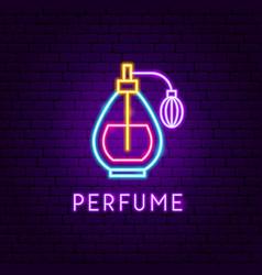 Perfume neon label vector