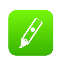 Permanent marker icon digital green vector