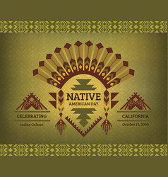 poster banner greeting card for tribal festival vector image