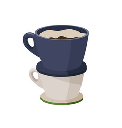 Purover coffee maker alternative vector