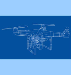 qadrocopter or drone vector image