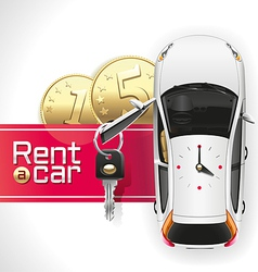 rent a car on red carpet vector image