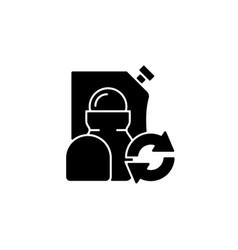 Roll on deodorant refill black glyph icon vector