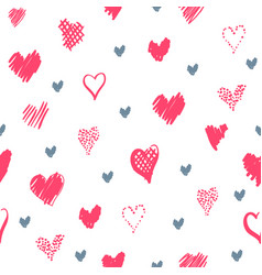 Romantic pattern with hearts vector