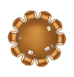 round meeting table vector image vector image
