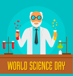 science day concept background flat style vector image