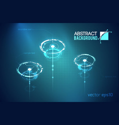 Scientific abstract technologic template vector