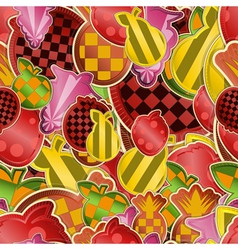 seamless fruit vector image