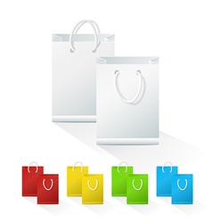 Set of Blank Shopping Paper Bags vector image vector image