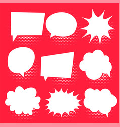set of comic chat bubbles vector image