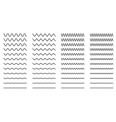 Set of wavy - curvy and zigzag - criss cross vector