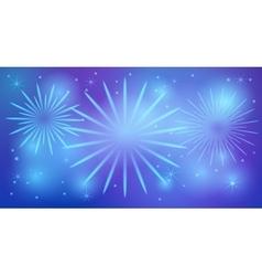 Shiny festive fireworks vector