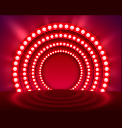 Show light podium red background vector
