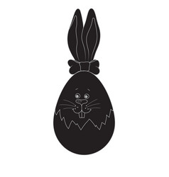 silhouette easter bunny vector image