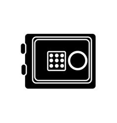 silhouette metal safe money in the house secure vector image